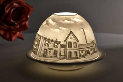Kerzenfarm Hahn Dome Light, Nr. 30170 Provence - Teelicht Windlicht Dekoration Porzellanteelicht - 1