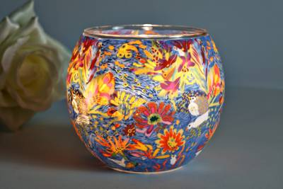 Leuchtglas 21415 Dream of Blossom 11cm Kerzenhalter Teelicht Windlicht Kerzenfarm - 1
