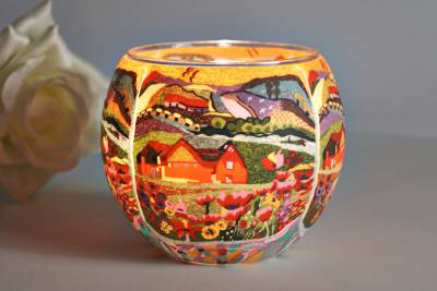 Leuchtglas 21416 Dreamhouse 11cm Kerzenhalter Teelicht Windlicht Kerzenfarm - 1