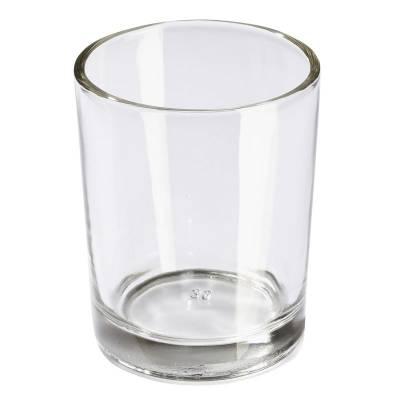 Teelichtglas, Teelichthalter, klar, Windlichthalter, Deko, Kerze, Glas für Teelichter - 1