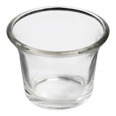 Teelichthalter, Glas, klar/ transparent, Teelichtglas, Windlichthalter, Kerzenständer, Teelichter - 1