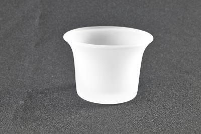 Teelichthalter, Glas, gefrostet milchig, Teelichtglas, Windlichthalter, Kerzenständer, Teelichter