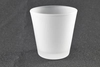 Teelichtglas, Teelichthalter, gefrostet, Windlichthalter, Deko, Kerze, Glas für Teelichter - 1