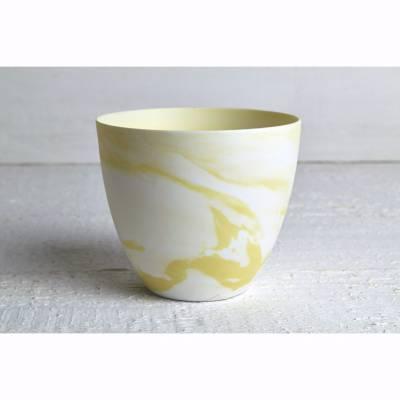 Becher für Teelichter, Pastell gelb, Windlichthalter, Teelichthalter, Glas für Teelicht