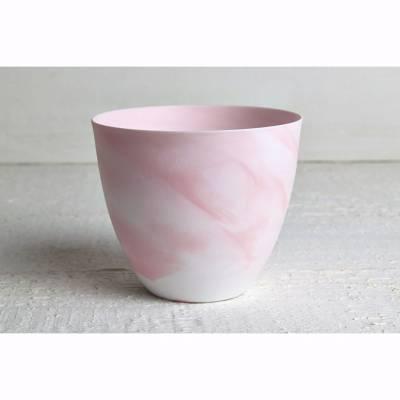 Becher für Teelichter, Pastell rot, Windlichthalter, Teelichthalter, Glas für Teelicht - 1
