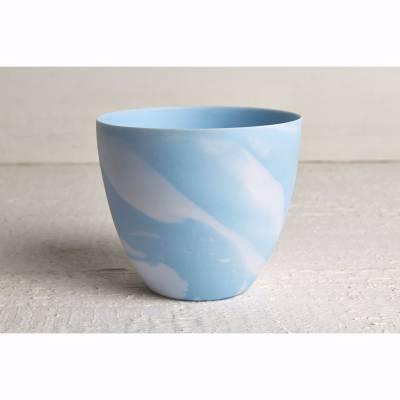 Becher für Teelichter, Pastell blau, Windlichthalter, Teelichthalter, Glas für Teelicht - 1