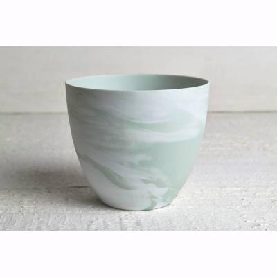 Becher für Teelichter, Pastell grün, Windlichthalter, Teelichthalter, Glas für Teelicht - 1