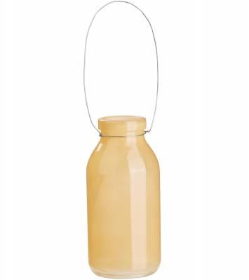 Deko Flasche orange Glasflasche Dekoflasche, Vase, Tischdeko, Fläschen - 1