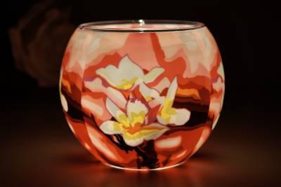 Leuchtglas 21417 Magnolia 11cm Kerzenhalter Teelichthalter Windlicht Kerzenfarm - 1