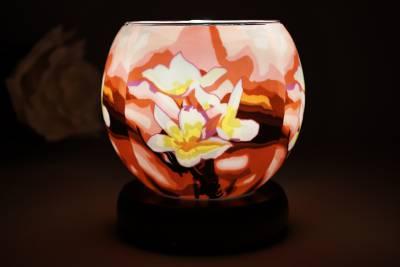 elektrische Leuchtglas Lampe 21417 Magnolie 11cm Tischleuchte, Dekoration Kerzenfarm - 1