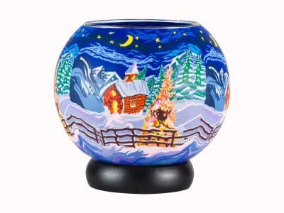 Leuchtglas Lampe 829 Silence Ø15cm Dekoration Teelicht Windlicht Kerzenfarm Kerze - 1
