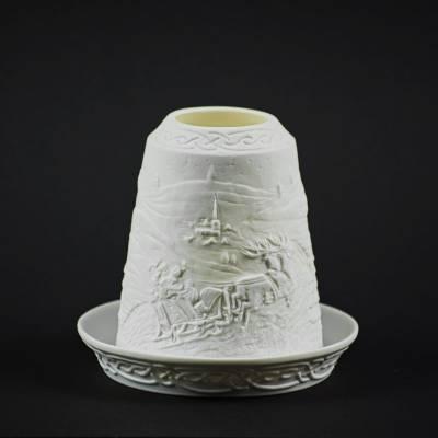 Starlight Glocke Nr.122 der Weihnachtsmann kommt Windlicht Teelichthalter - 1
