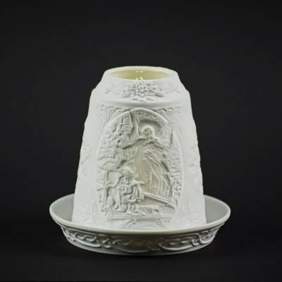 Starlight Glocke Nr.184 wachender Schutzengel Windlicht Teelichthalter - 1