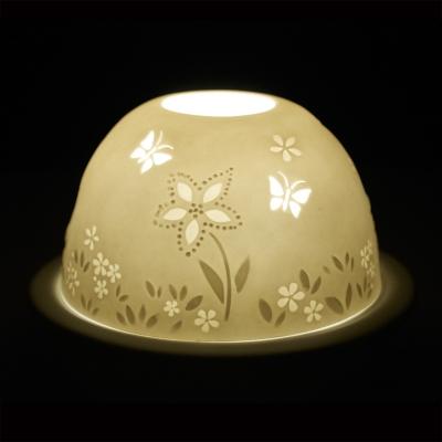 Starlight Nr.114 - Hellmann Porzellanteelicht Windlicht Teelichthalter Schmetterlinge - 1