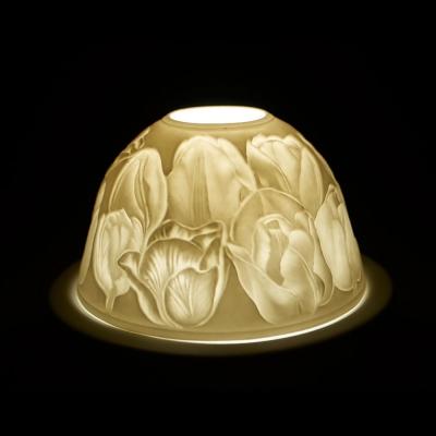 Starlight Nr.79 - Teelicht Windlicht Hellmann Dekoration Porzellanteelicht Tulpen - 1