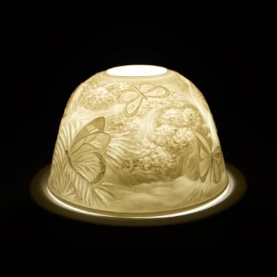 Starlight 75 Schmetterlinge Teelicht Windlicht Bisquitporzellan Hellmann Dekoration - 1