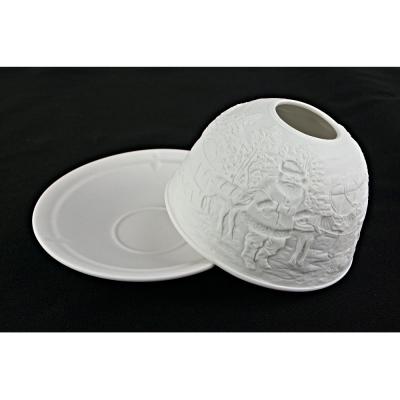 Starlight 40 Weihnachtsmann Geschenke Hellmann Porzellan-Windlicht Teelichthalter - 1
