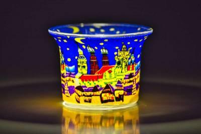Votiv Glas 204 München bei Nacht dekoratives Windlicht - 1