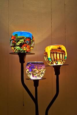 Standleuchter, 3-Arm Leuchtständer - 1
