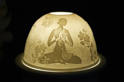 Starlight Nr.211 - Teelicht Windlicht Dekoration Porzellanteelicht Bisquitporzellan Buddha 2 - 1