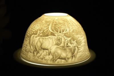 Starlight Nr.273 - Teelicht Windlicht Dekoration Porzellanteelicht Bisquitporzellan Hirsch 2 - 1