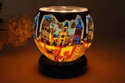 Leuchtglas als Lampe 601 Sunday Ø11cm Dekoration Teelicht Windlicht Kerzenfarm Kerze - 1