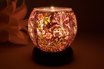 Leuchtglas als Lampe 414 Sweet William Ø11cm Dekoration Teelicht Windlicht Kerzenfarm Kerze - 1