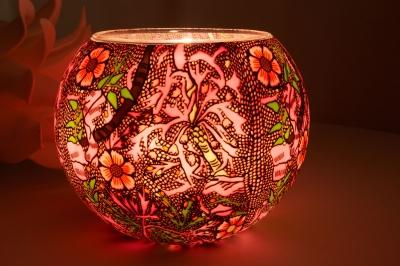 Leuchtglas 414 Sweet William Ø15cm Dekoration Teelicht Windlicht Kerzenfarm Kerze - 1