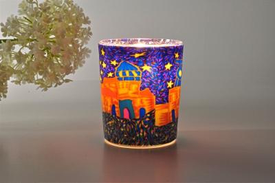Leuchtglas für Teelicht 308 Spanish Town Ø5,8cm Deko Teelichtleuchte Windlichthalter Lampe - 1