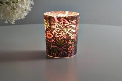Leuchtglas für Teelicht 414 Sweet William Ø5,8cm Deko Teelichtleuchte Windlichthalter Lampe - 1