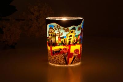 Leuchtglas für Teelicht 601 Sunday Ø5,8cm Deko Teelichtleuchte Windlichthalter Lampe - 1