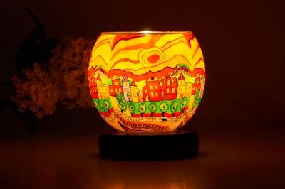 Leuchtglas Lampe 631 Sunny Afternoon Ø11cm Dekoration Teelicht Windlicht Kerzenfarm - 1