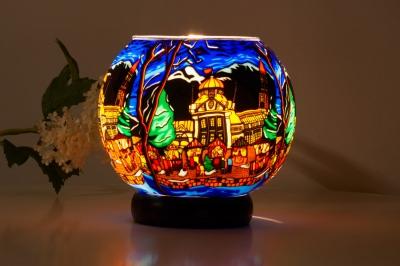 Leuchtglas Lampe 632 Meran Ø15cm Dekoration Teelicht Windlicht Kerzenfarm Kerze - 1