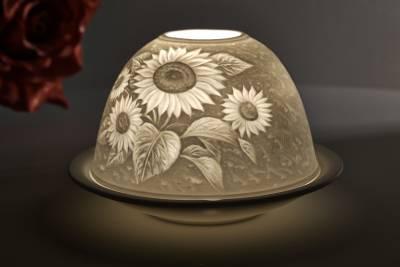 Kerzenfarm Dome Light Nr. 30007 Sonnenblume - Teelicht Windlicht Dekoration Porzellanteelicht - 1