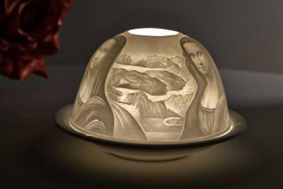 Kerzenfarm Hahn Dome-Light Nr. 30011 Mona Lisa - Teelicht Windlicht Dekoration Porzellanteelicht - 1