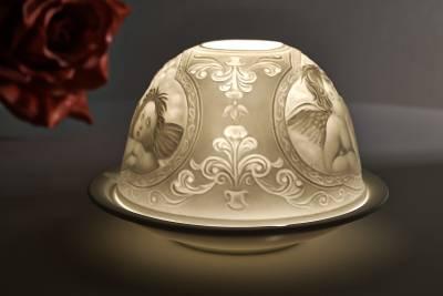 Kerzenfarm Dome Light Nr. 30012 Raphael Engel - Teelicht Windlicht Dekoration Porzellanteelicht - 1