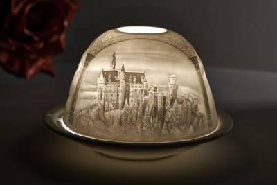 Kerzenfarm Dome Light Nr. 30013 Neuschwanstein - Teelicht Windlicht Dekoration Porzellanteelicht - 1
