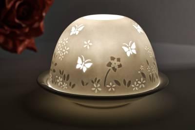 Kerzenfarm Hahn Dome Light, Nr. 30021 Frühling - Teelicht Windlicht Dekoration Porzellanteelicht - 1