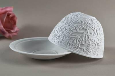Kerzenfarm Dome Light Nr. 30025 Ornamente - Teelicht Windlicht Dekoration Porzellanteelicht - 1