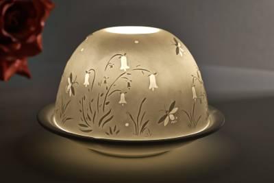Kerzenfarm Dome Light Nr. 30026 Glockenblume - Teelicht Windlicht Dekoration Porzellanteelicht - 1