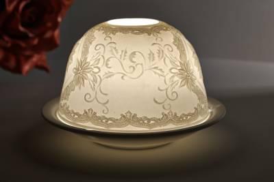 Kerzenfarm Dome Light, Nr. 30030 Christrose - Teelicht Windlicht Dekoration Porzellanteelicht - 1