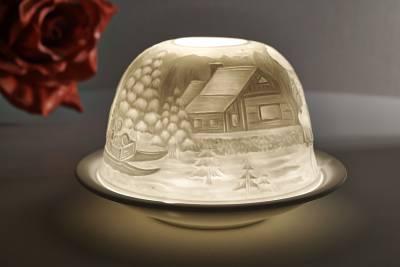 Kerzenfarm Dome Light Nr. 30032 Teddybär - Teelicht Windlicht Dekoration Porzellanteelicht - 1