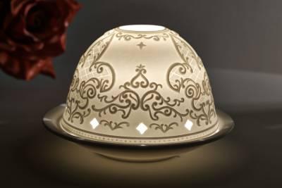 Kerzenfarm Hahn Dome Light Nr. 30036 Gotik - Teelicht Windlicht Dekoration Porzellanteelicht - 1