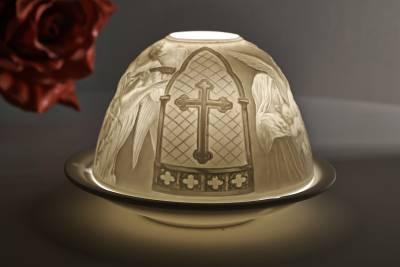 Kerzenfarm Dome Light Nr. 30037 Engelskonzert - Teelicht Windlicht Dekoration Porzellanteelicht - 1