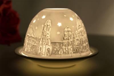 Kerzenfarm Hahn Dome-Light Nr. 30044 Berlin - Teelicht Windlicht Dekoration Porzellanteelicht - 1