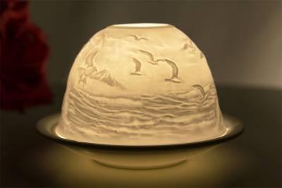 Kerzenfarm Dome Light Nr. 30048 Leuchtturm - Teelicht Windlicht Dekoration Porzellanteelicht - 1