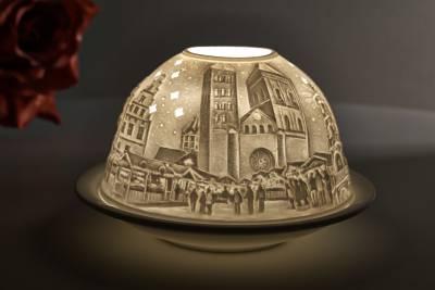 Kerzenfarm Dome Light, Nr. 30155 Osnabrück - Teelicht Windlicht Dekoration Porzellanteelicht - 1