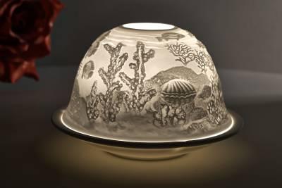 Kerzenfarm Dome Light, Nr. 32002 Meeresgrund - Teelicht Windlicht Dekoration Porzellanteelicht - 1