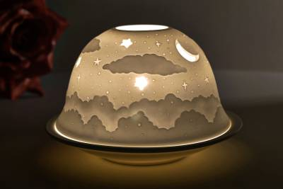 Kerzenfarm Hahn Dome Light Nr. 32007 Firmament - Teelicht Windlicht Dekoration Porzellanteelicht - 1