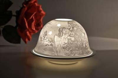 Kerzenfarm Hahn Dome Light Nr. 32010 Heilige Nacht - Teelicht Windlicht Dekoration Porzellanteelicht - 1